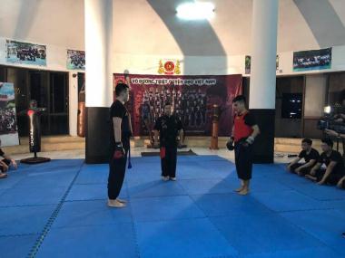 Giao lưu boxing giữa võ sinh TQĐ VN và clb Boxing