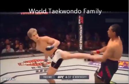 Khi đòn đá taekwondo được áp đụng triệt để vào MMA