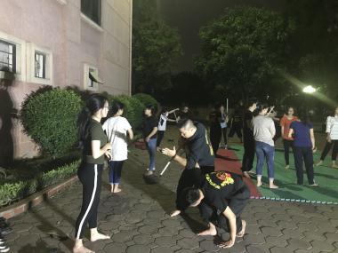 CLB Triệt Quyền Đạo Việt Nam tham gia huấn luyện võ thuật cho các CLB sinh viên Trường ĐH Sư phạm Hà Nội