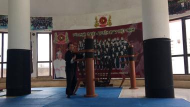 Các kỹ thuật tập luyện với mộc nhân của Võ Phái Triệt Quyệt Đạo Việt Nam!